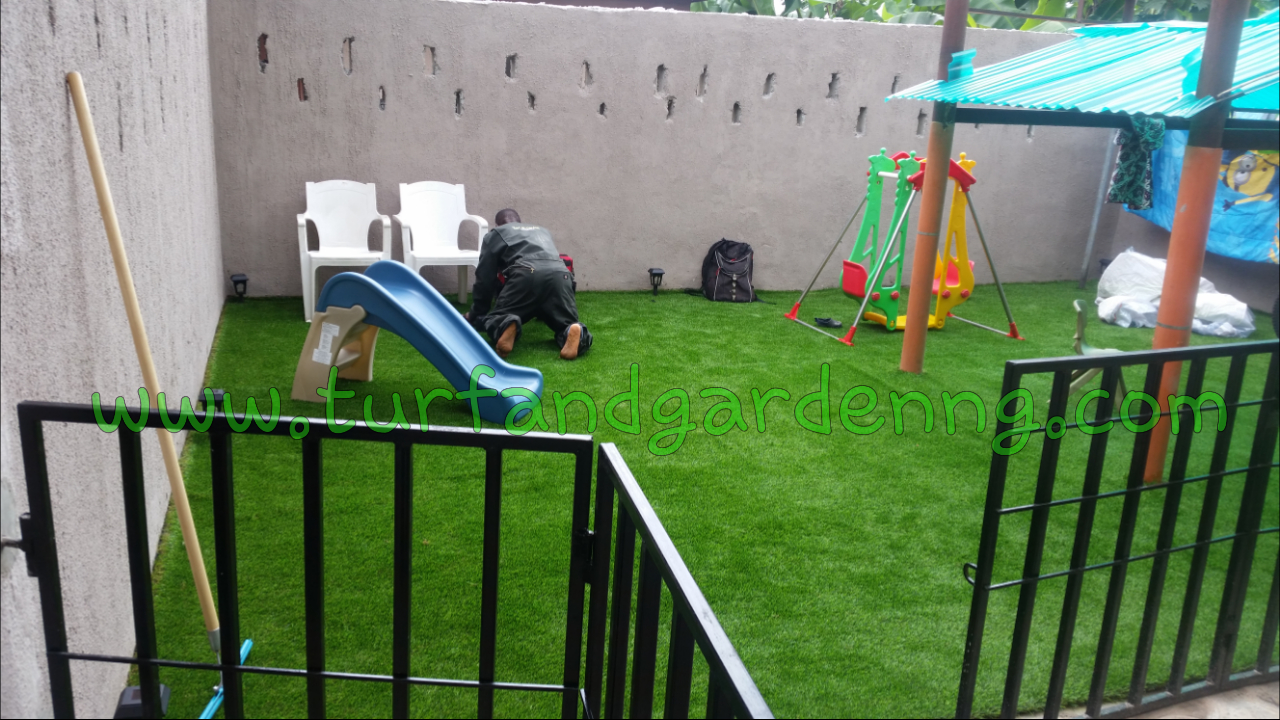 Residential kids playground, Elimgbu, PHC - completed view 1