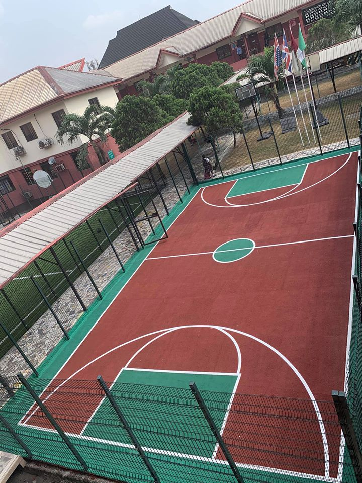 Installation of Basketball court at Dayspring Sch. Ph
