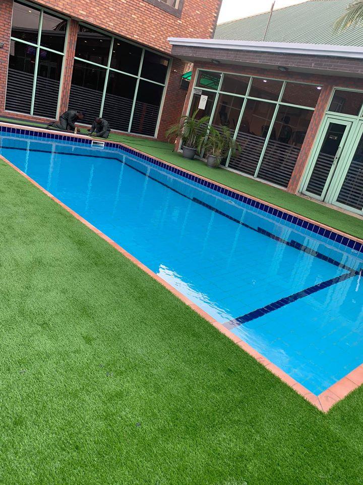 Pool Area Swiss International Mabisel Hotel - During installation